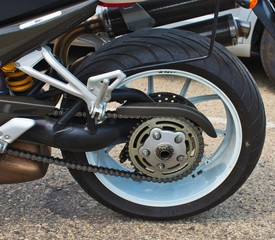 Racing Motorcycle - Rear Wheel Unit.