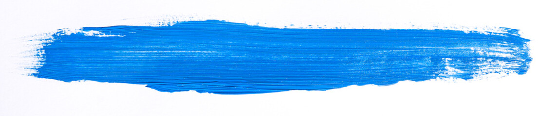 Blue brush stroke isolated over white background