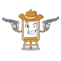 Cowboy easel character cartoon style