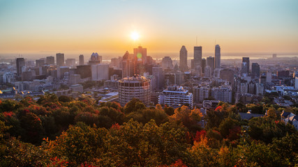 Montreal sunrise from Mont Royal