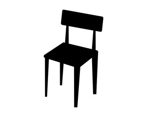 black chair silhouette furniture furnishing household interior exterior home image vector icon logo
