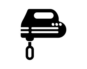 black mixer kitchen equipment household tableware cookware dishware image vector icon logo