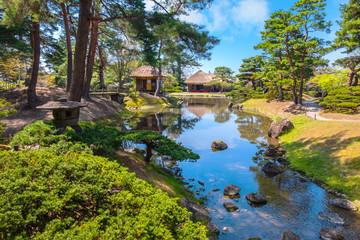 Oyakuen medicinal herb gardenin Aizuwakamatsu, Japan
