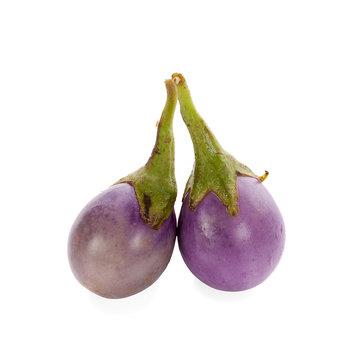 Eggplant on white background