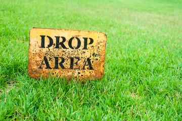 Drop Area golf sign