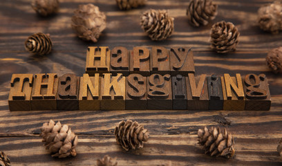A Rustic Brown Happy Thanksgiving Background