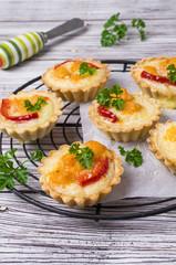 Tartlets with vegetables