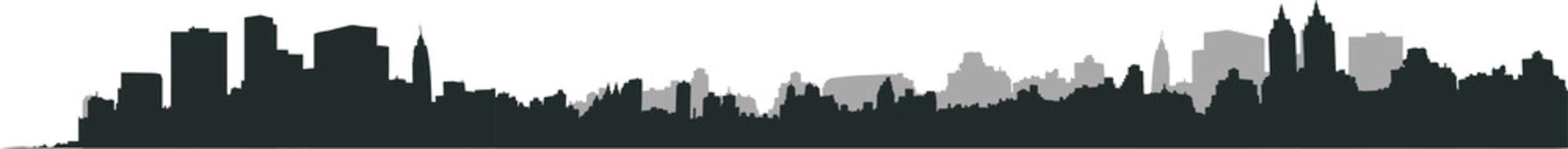 Photo sur Plexiglas Gris traffic ニューヨークの風景シルエット