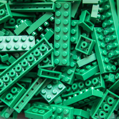 Plastic toy block background