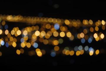 City night light bokeh