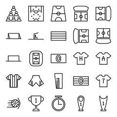 Soccer icon set in line version