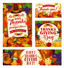 Vector Thanksgiving Day posters