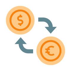Currency exchange flat illustration