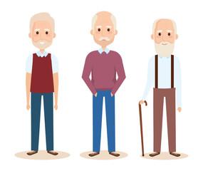 cute grandfathers avatars characters