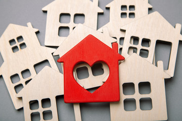 Search and selection of homes for purchase or rent. Many house models