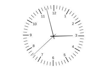 シンプルな時計の文字盤グラフィック素材
