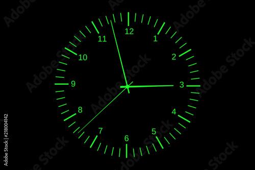 シンプルな時計の文字盤グラフィック素材 Stock Photo And