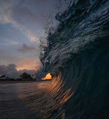 Fototapete - sunrise wave