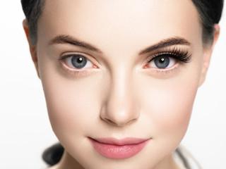Lashes woman face eyes closeup