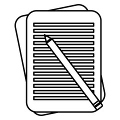 pencil write with documents