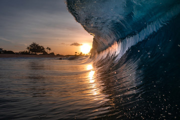 Wall Mural - large sunrise wave