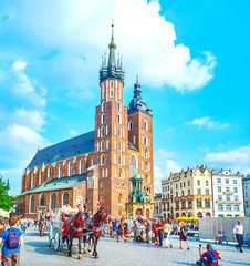 The central landmark of Krakow, Poland