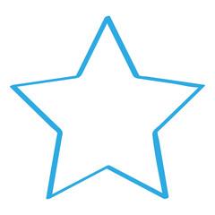 Handgezeichneter Stern in blau
