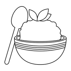 kitchen bowl with mashed potatoes and spoon