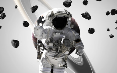 Wall Mural - Astronaut at spacewalk, EVA, awesome science fiction wallpaper. Elements of this image furnished by NASA