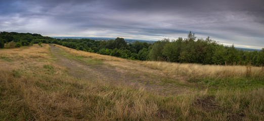 Panorama from Beacon Hill Country Park in West Lancashire