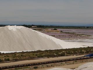 Montage de sel des salins du midi France