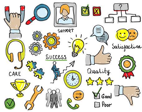 Customer Loyalty Service Support. Trust Concept. Vector illustration