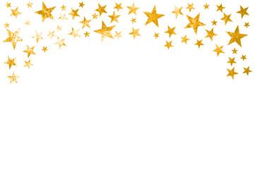 Vorlage für Karte mit goldenen grunge Sternen