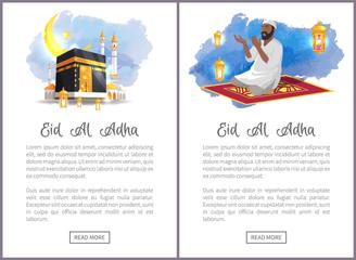 Eid Al Adha Holiday Internet Vertical Posters Set