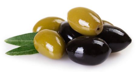 Fototapete - Green and black olives