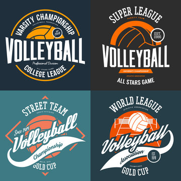 Sport t-shirt prints for volleyball players