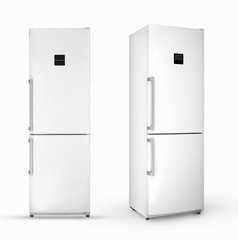 household refrigerator on a white background