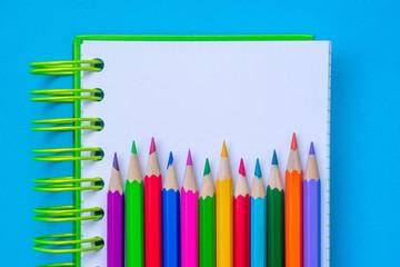 Sketchbook. Color pencil. Place for text