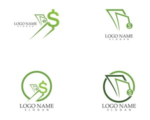 Money fast logo vector template