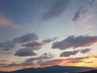 sky clouds in sunrise summer