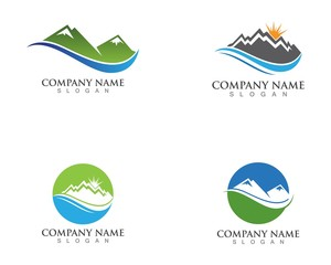 mountain logo template vector icon