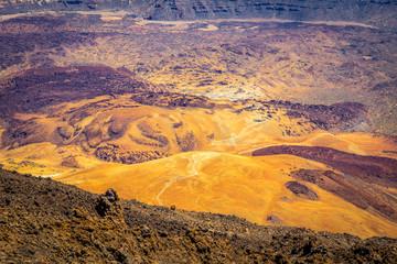 Blick in die Steinwüste des Montaña Blanca auf Teneriffa