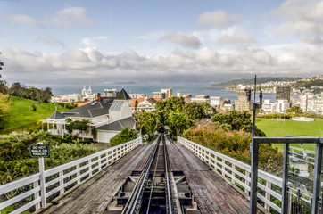 Panoramic view of Wellington, New Zealand.