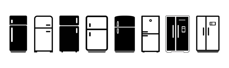 Fridge icon set