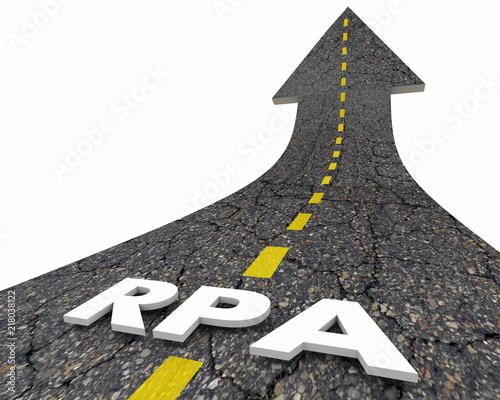 RPA Robotic Process Automation Task Automating Road Word 3d