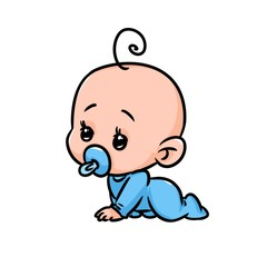 Small baby cartoon minimalism character illustration isolated image