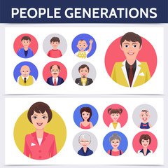 Flat People Aging Process Template