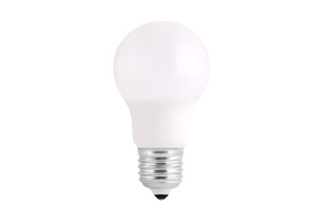 light bulb realistic vector illustration isolated on white background. fluorescent energy saving light bulb in 3d style.