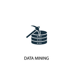 data mining creative icon. Simple element illustration. data mining concept symbol design from Business intelligence collection. Can be used for web and mobile.