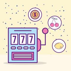 casino slot machine jackpot leisure luck game vector illustration